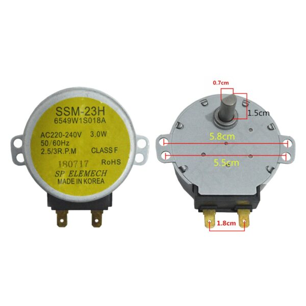 Replacement Microwave Oven Motor For LG Microwave Oven Turntable Motor MP-9485SA MP9482S MP-9483SL MP9489SB MZ9480YRC Accessory