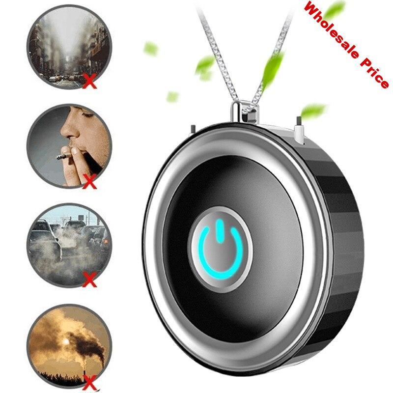 Personal Wearable Air Purifier Necklace USB Mini Portable Air Cleaner Negative Ion Generator Air Freshener