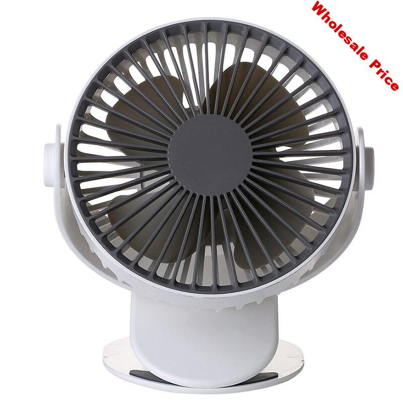 Usb Clip Desk Fan Mini Usb Personal Cooling Fan Portable Table Electronic Fan 360° Rotation For Home Office Dormitory Bedroom Wh