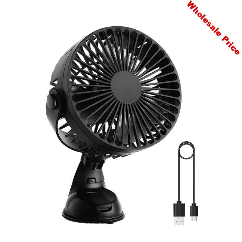 Universal Rechargeable 2200mAh Battery Operated Suction Cup 3 Speeds Car Home Office Kitchen Fan Strong Wind USB Fan U1JE