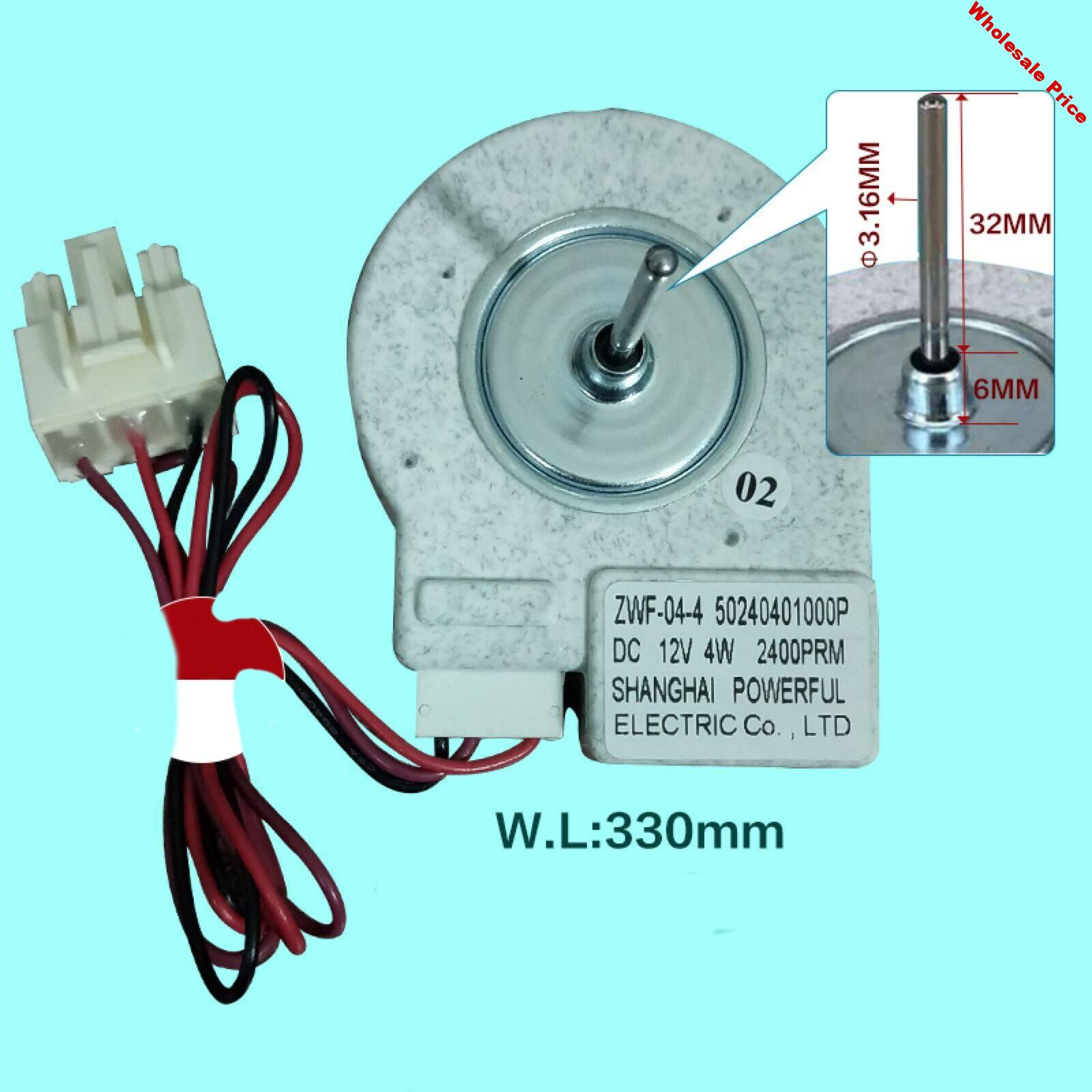 Replacement Universal Fan Motor for Midea Refrigerator BCD-330WTV Freezing Fan Motor ZWF-02-4 Type Refrigerator Accessories