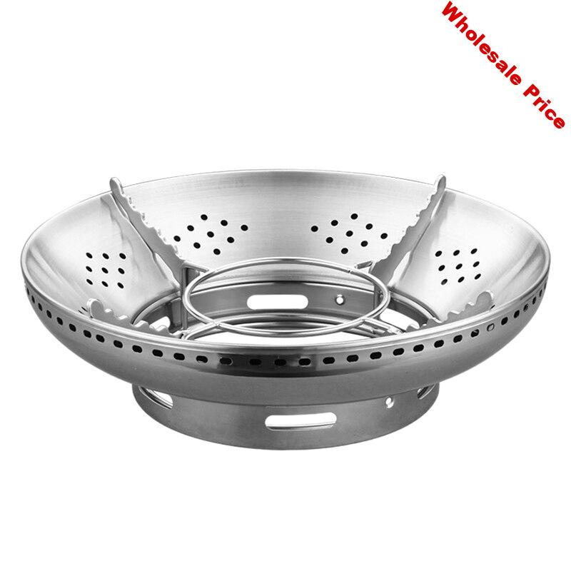 Stainless Steel Gas Stove Windshield Stainless Steel Polyfire Energy-Saving Windshield Hood Household Gas Stove Bracket
