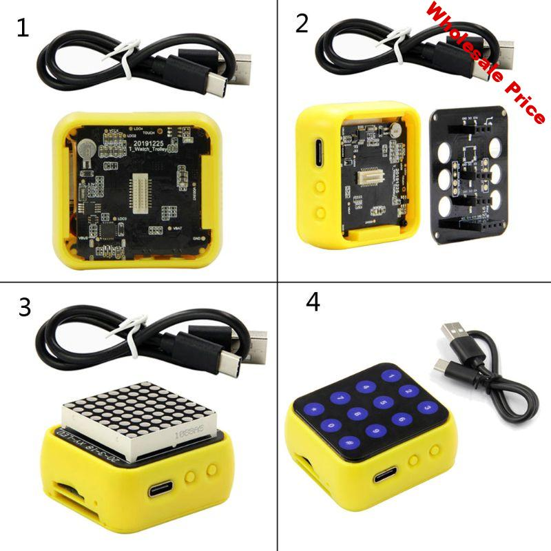 1Set T-Block ESP32 Main Chip WiFi Bluetooth Compatible Multifunction Module Development Board with Charging Cable