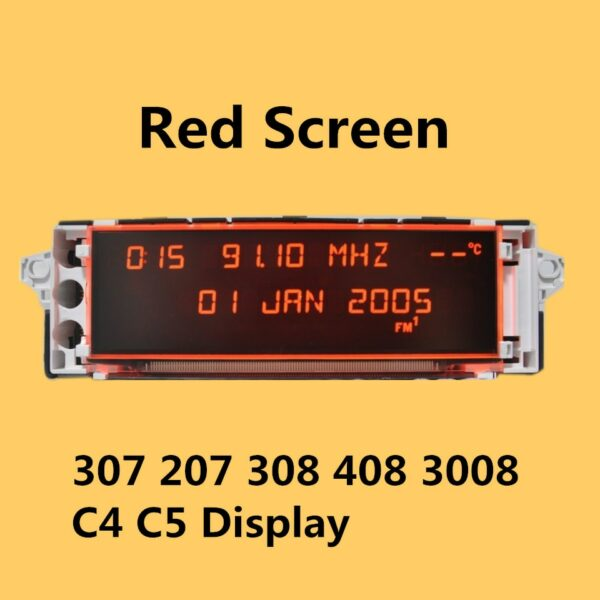 Car Original Screen Support USB AUX Display Red Monitor 12 pin Suitable 307 207 308 408 3008 C4 C5 Display