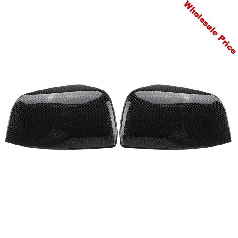 For Jeep Grand Cherokee 2011 2012 2013 2014 15 16 2017 1 Pair Abs Car Carbon Black Style Rearview Side Wing Mirror Cover Trim