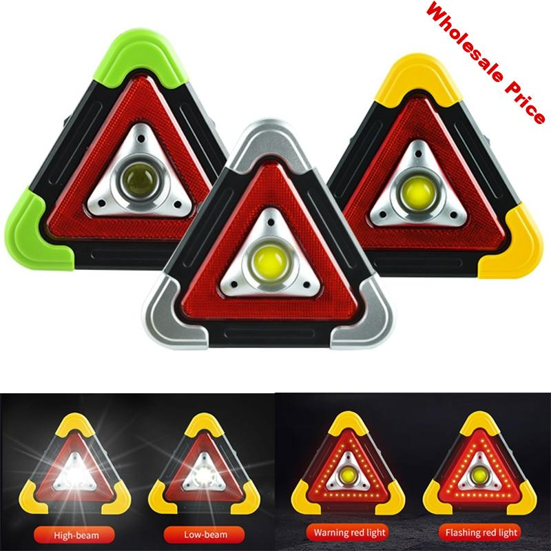 Triangle Warning Sign Triangle Car LED Work light Road Safety Emergency Breakdown Alarm lamp Portable Flashing light on hand