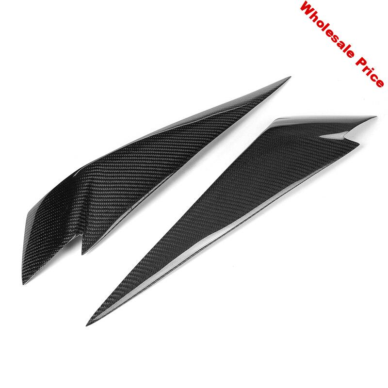 1Pair Carbon Fiber Headlight Eyebrows Cover Eyelids Trim For Bmw X1 E84 2009-2014 Car Styling For Front Headlight