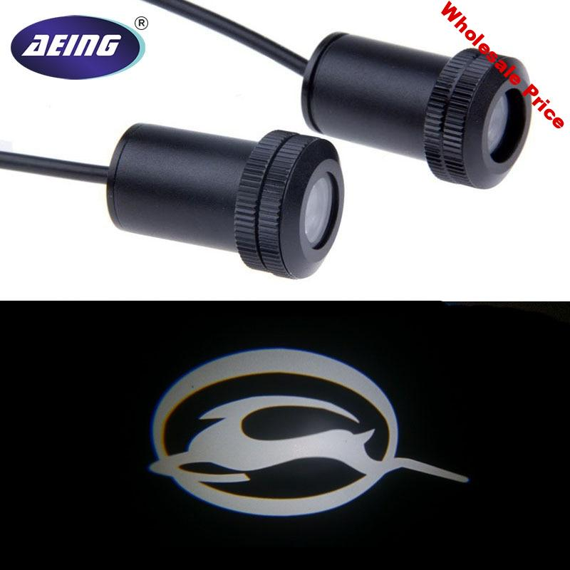 AEING 2pcs Ghost Shadow Logo welcome Car White LED Door Light Laser Courtesy Slide Projector logo Emblem light For CHEVY IMPALA