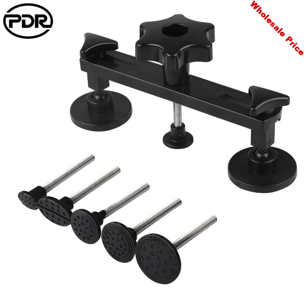 PDR Car Body Dent Hail Repair Removal Bridge Puller with 2pcs Glue Sticker Hail Removal Hand Tool Set for Car Owner Auto Repair