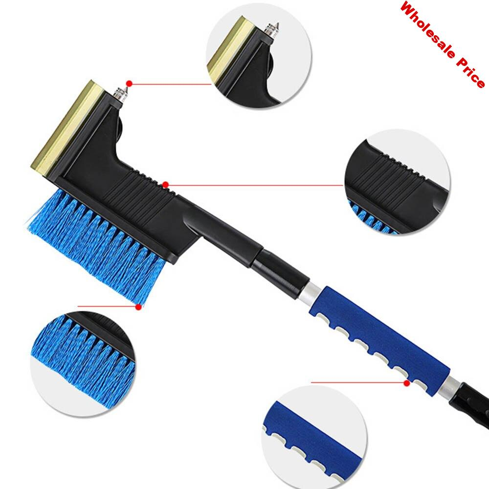 2 In 1 Car Ice Scraper Snow Shovel Winter Car Windshield Snow Brush Retractable Window Shovel Removal Brush Car Cleaning Tool 30