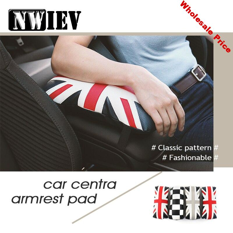 NWIEV Car Styling Armrest Cushion Covers For  BNW X5 Audi A3 A4 B7 B8 B6 A6 C6 C5 Q5 Nissan Qashqai Juke X-trail T32 Accessories