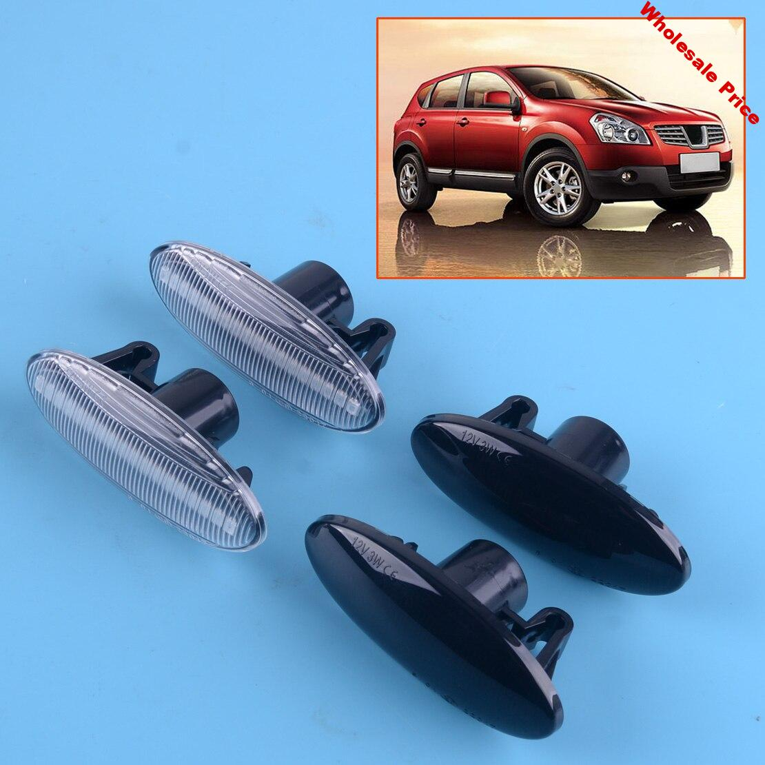 beler 1 Pair Amber Fender Light LED Dynamic Sequential Marker Turn Signal Lamp fit for Nissan Juke Qashqai Cube X-trail