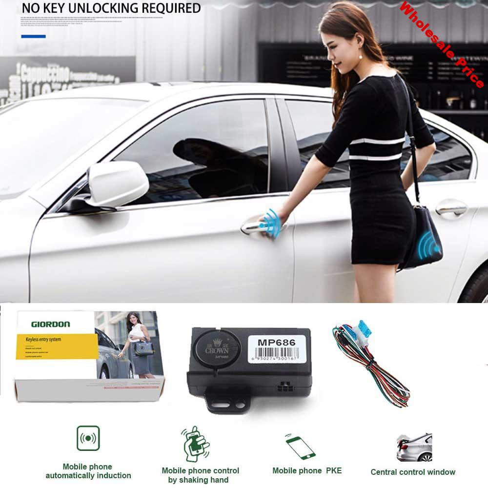 3-5M Auto Keyless Entry Automatic Trunk Opening With Mobile Phone App Bluetooth Car Security System Central Locking