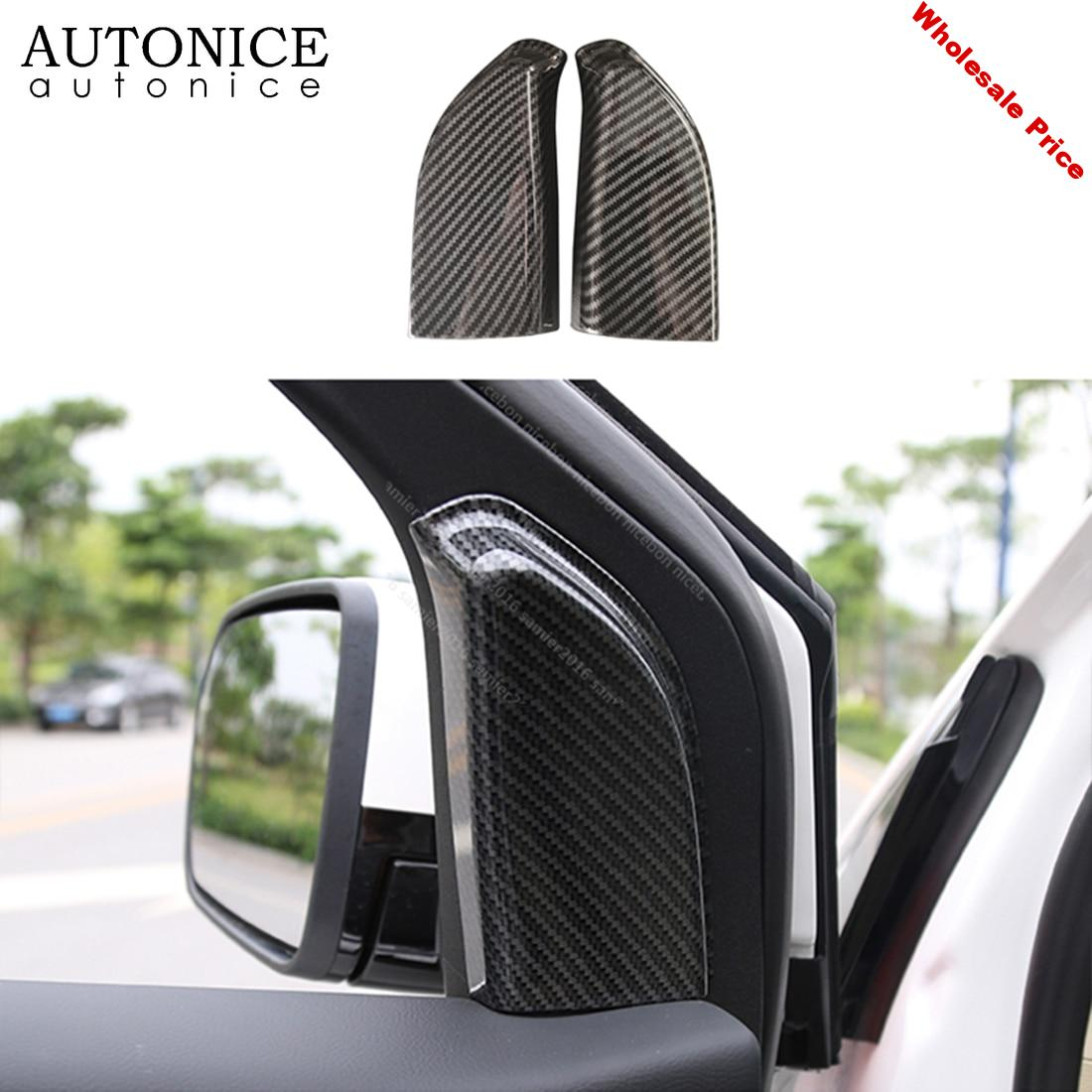 Carbon Fiber Color Front triangle interior window Trim Cover FIT FOR FORD Edge