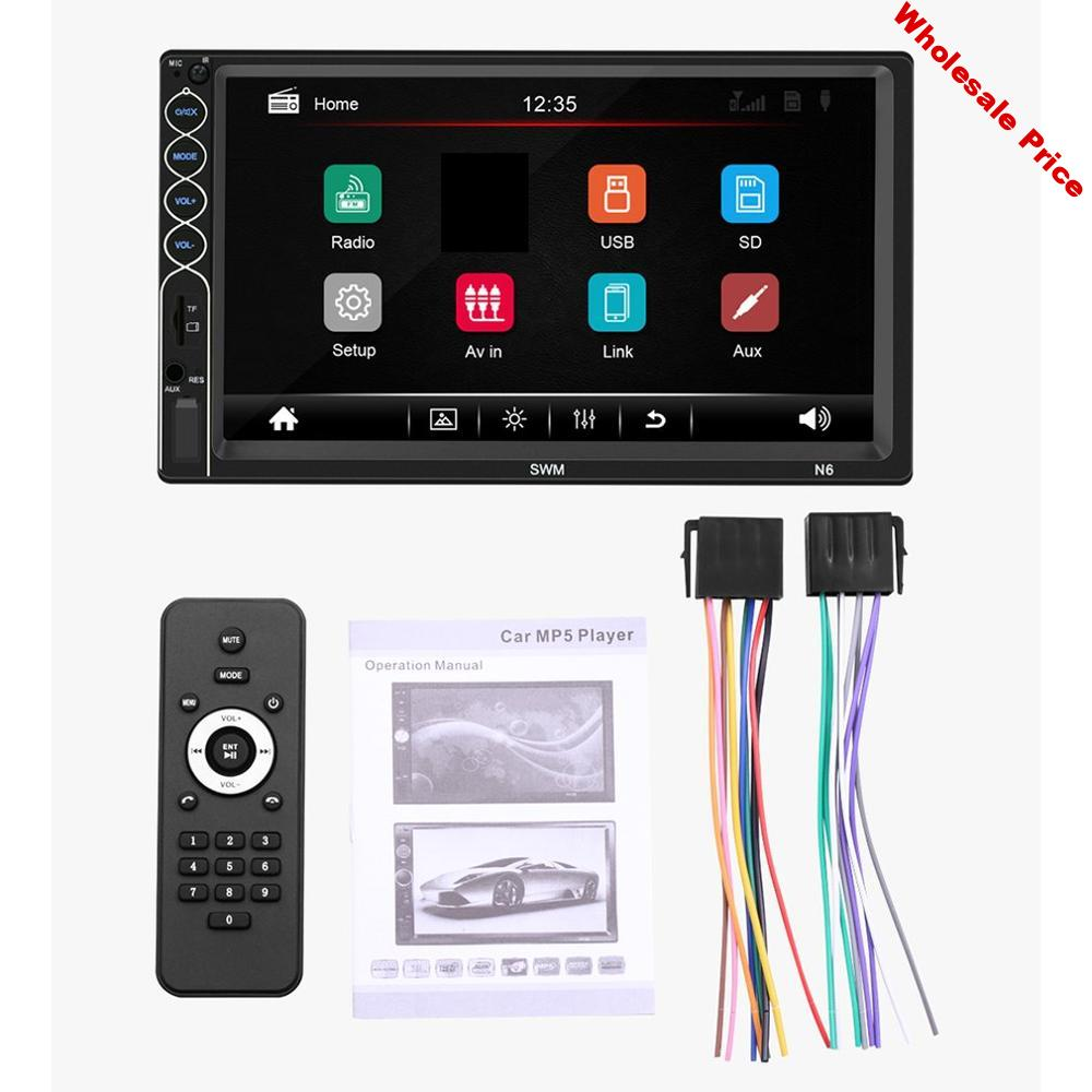 7Inch N6 HD Capacitive Screen Car MP5 Host for Car Play Mobile Phone Integrated Player Car Stereo Full Touch Screen