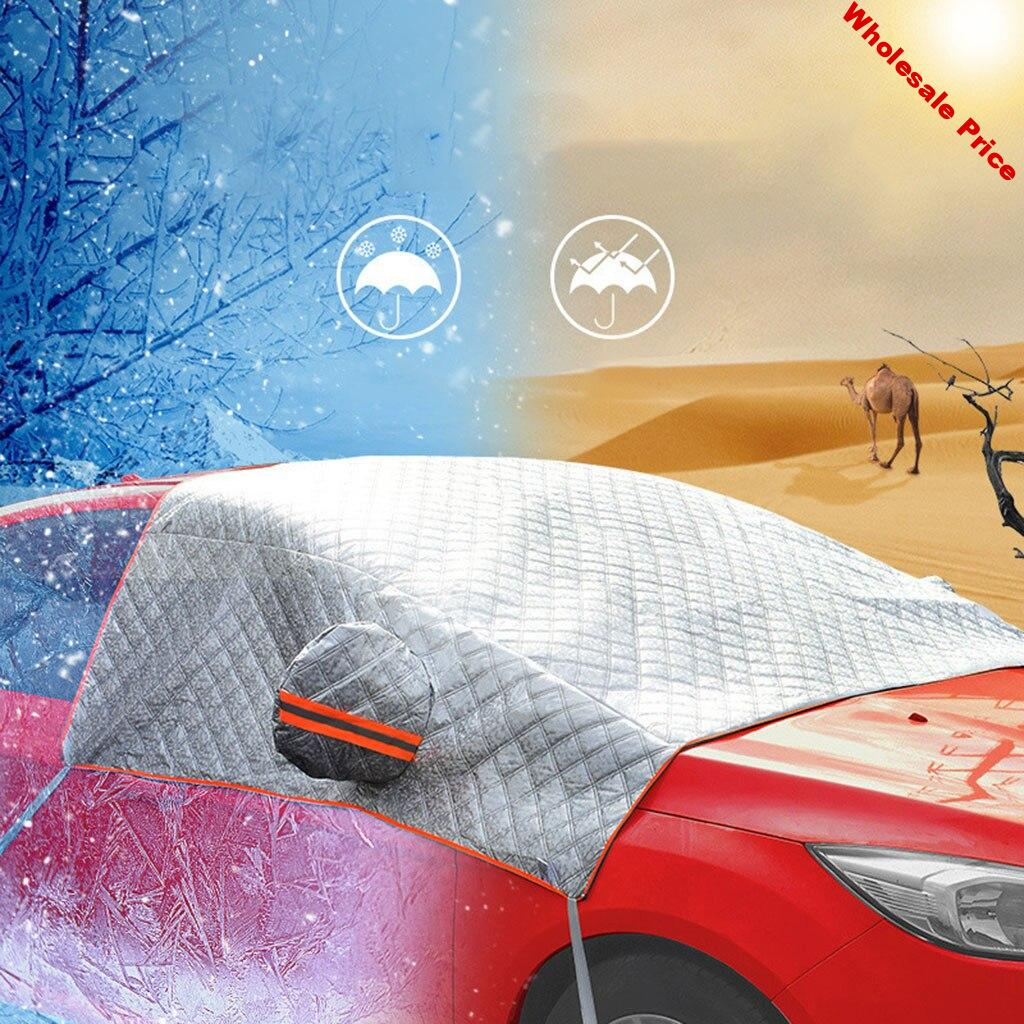 Universal Car Front Windshield Snow Cover Sun Shade Protector Thicker Anti Snow Frost Ice Protection Windscreen Cover Wholesae