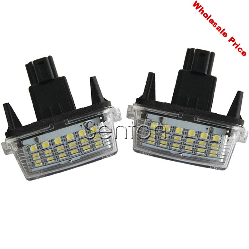1Pair Car LED number License Plate Light 12V White SMD lamp For Toyota Corolla Yaris Camry Auris Vios Hybrid Accessories