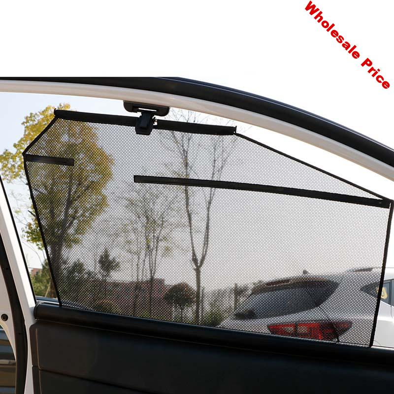 Curtains car Automatic Lifting Sunscreen Insulation Telescopic Curtains Special Sun Shade front Rear Side Window Anti-UV Auto
