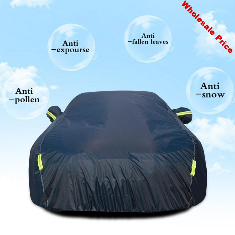 For Car Reflector Dust Rain Snow Waterproof Car Outdoor Sun Protection Cover Protective Full Cover Auto Exterior Accessories