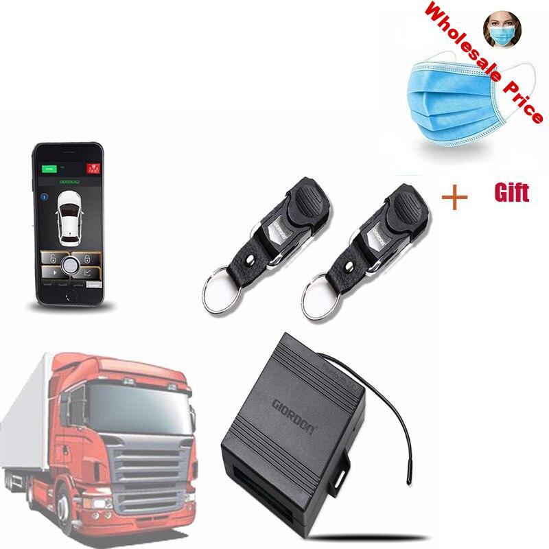 24v For Truck Car Alarm System App Automatic Keyless Entry Central Locking/unlock App Remote Control With Mobile Phone