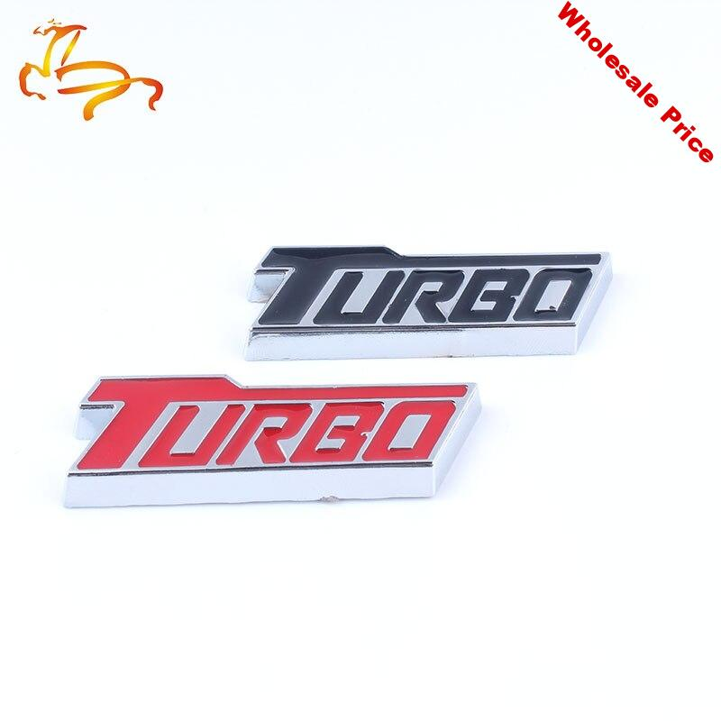 10xCar Styling 3D Metal TURBO Car Side Fender Rear Trunk Emblem Badge Sticker Decals for Buick Chevrolet Malibu Accessories