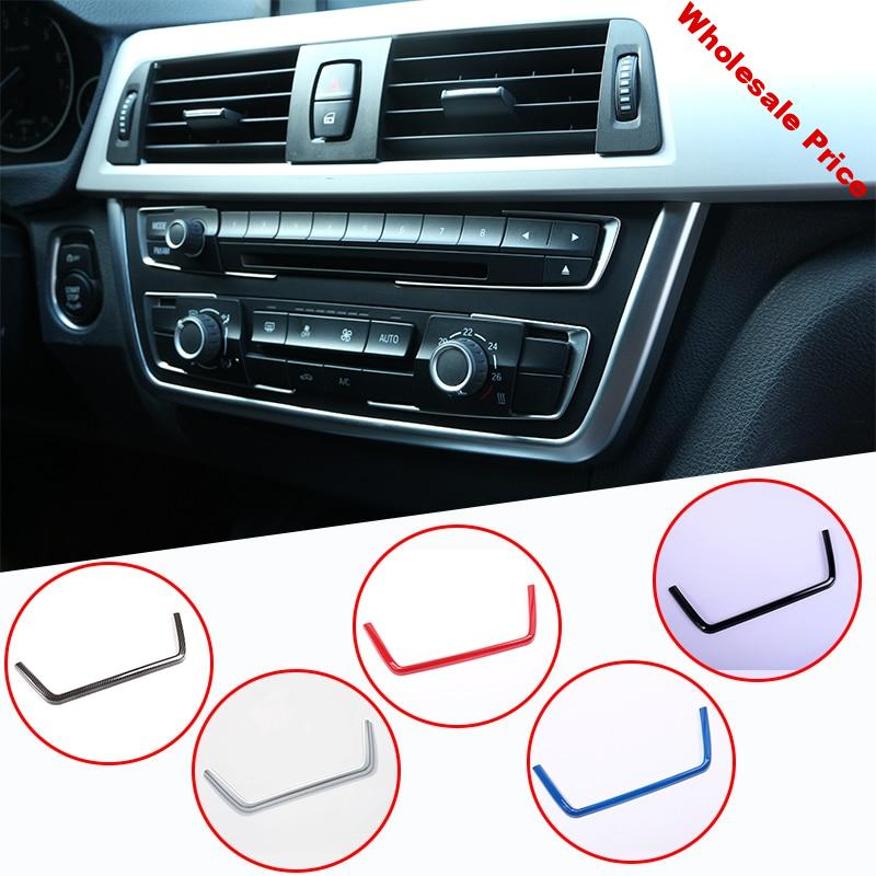 ABS Chrome Console Panel Frame Trim For BMW 3 Series F30 316 318 320 2013-2017 Car Accessories