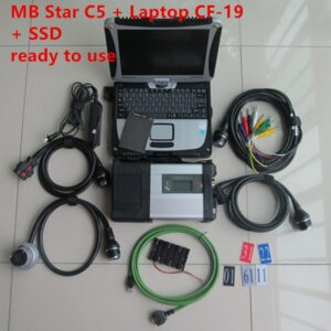 2020 Diagnostic Tool mb star c5 sd connect LAN Diagnosis SD C5 with SSD software 2020.06 in CF-19 i5 8g laptop ready use