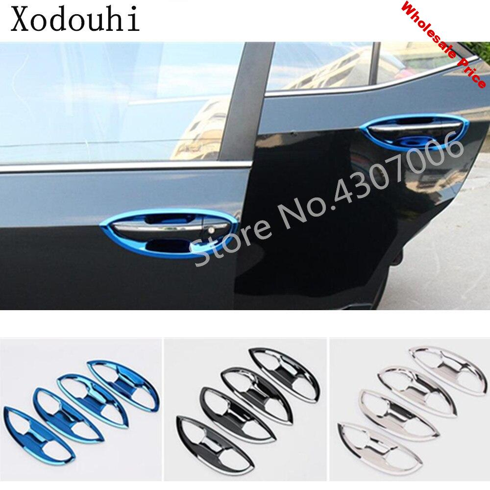 Car body cover detector trim Stainless Steel external door Bowl stick frame 8pcs For Toyota Corolla Altis 2017 2018 2019