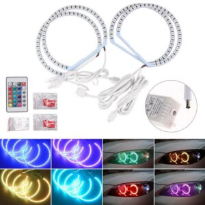 High Recommend For BMW E36 E38 E39 E46 Multi-Color 5050 RGB Flash SMD Led Angel Eyes Halo Rings Wholesale Quick delivery CSV