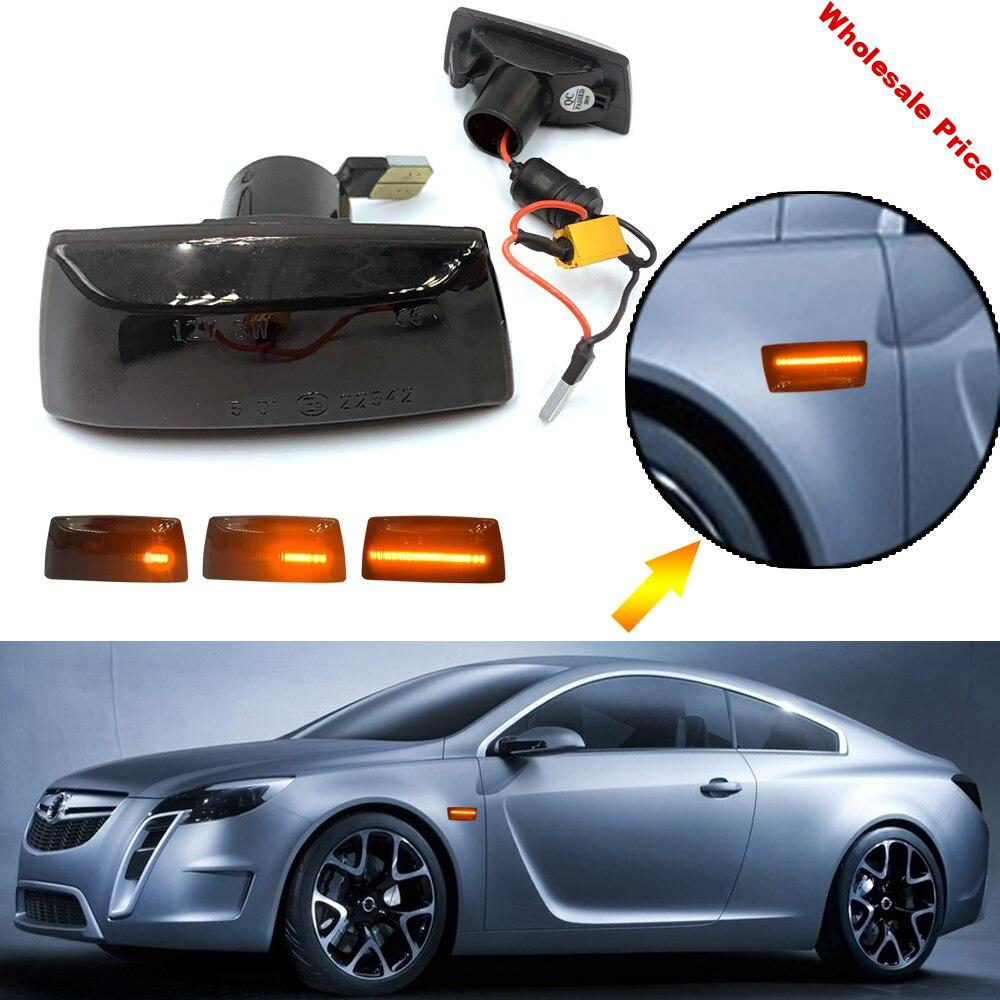 Smoke LED Side Marker Light Flowing Water For Astra Opel for Insignia for Astra H for Zafira B 2005 for Corsa D For Chevrolet