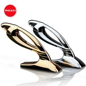 Noizzy JP Junction Produce Vertical VIP Car Auto Hood Badge Sticker Fashion Emblem 100% 3D Metal Chrome Gold Tuning Car-Styling