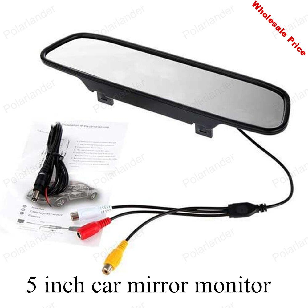 LCD Car Monitor 5 inch TFT Screen For assistance Rear View Camera DVD Parking digital Compatible Display