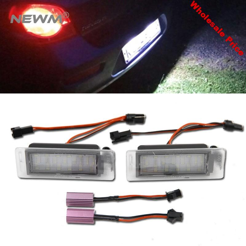 2x LED Licence Number Plate Light for Chevrolet Cruze Camaro Sonic Holden Trax Aveo 2nd CANBUS