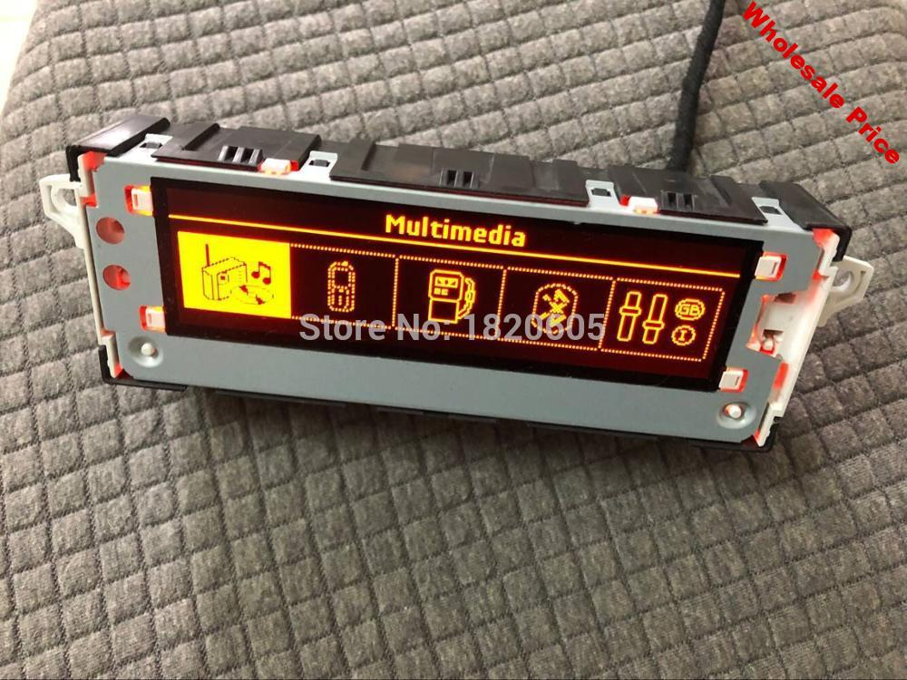 Genuine Car Red screen USB Bluetooth Multifunction Clock Display monitor 6 pin for Peugeot 301 408 508 for citroen C4L