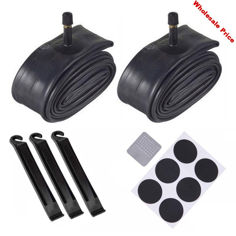 6PCS Bike Inner Tube For Mountain Road Bike Tyre Butyl Rubber Bicycle Tube Tire Patches Replacement Inner Tube Repair Kit 26Inch