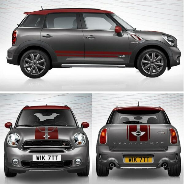 Whole Body Hood+Trunk+Side Door Stripes Decals And Stickers Car Styling For Mini Cooper S Countryman R60 Decoration Accessories
