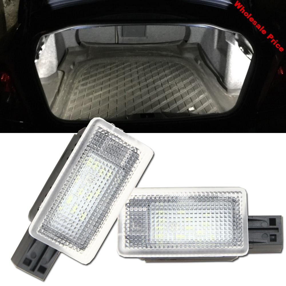 2x Error Free LED Luggage trunk boot lights for Volvo C70 V50 S60 S60L V40 S80 S80L V60 XC60 XC90 18SMD Led Compartment Light
