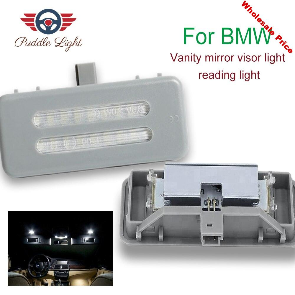 2x 18smd Gray LED vanity mirror lamp For BMW E60 E61 E90 E91 E92 E70 E71E72 X1 X2 X3 X5 X6 E84 F25 E70 E71 E72 Car-styling