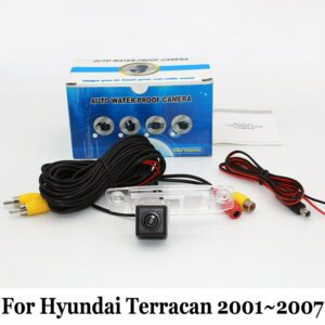 Backup Camera For Hyundai Terracan 2001~2007 / RCA 6M Wire HD CCD Night Vision Car Reverse Rear View Camera