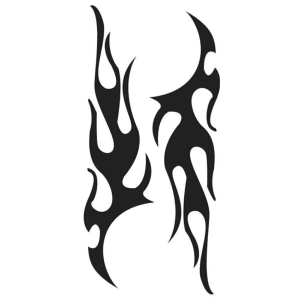 1 Pair Universal Flame Auto Car Body Graphic Decal Large Flaming Sticker Decor EAG017 Accessori Auto Car Stickers