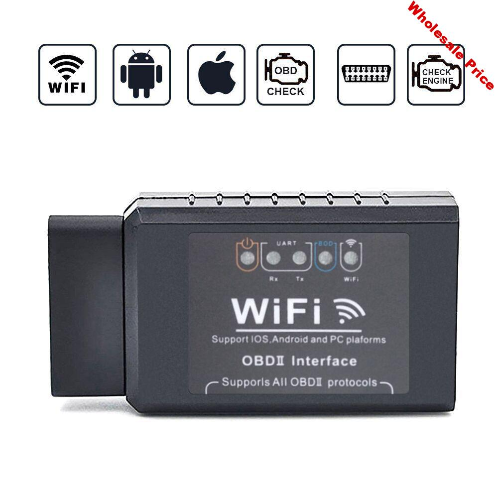 ELM327E Car WIFI V1.5 OBD2 OBDII Scan Tool Foseal Scanner Adapter Check Engine Light Diagnostic Tool  for ios Android Windows
