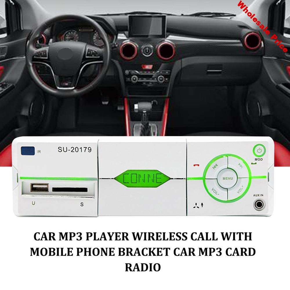 Automobile FM Radio Multimedia MP3 Player USB Car Stereo Audio Player With Mobile Phone Bracket Voice Navigation