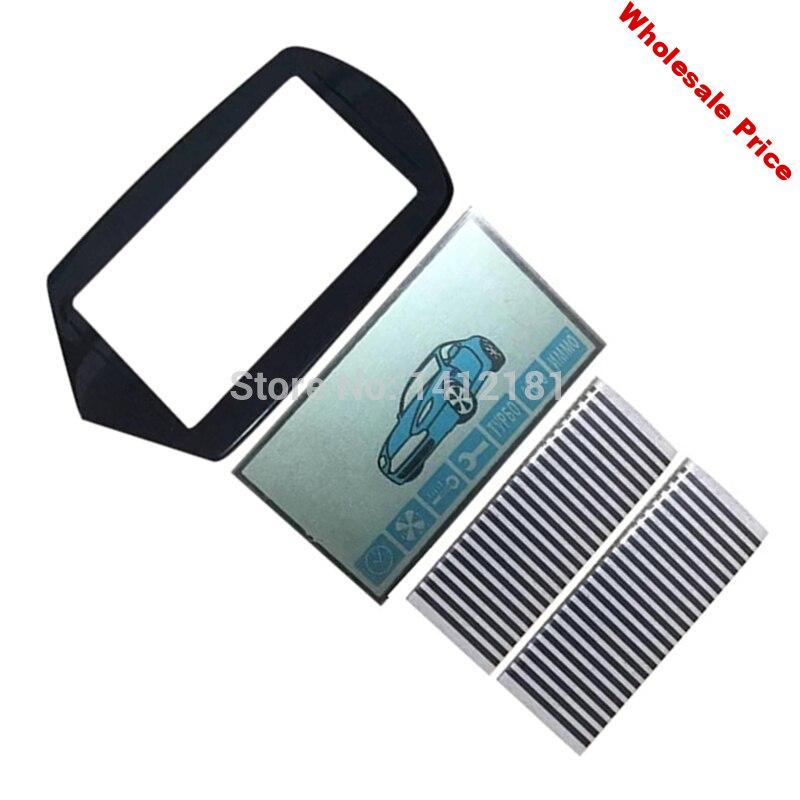 10PCS/lot A91 flexible cable A91 LCD display+ keychain Glass Cover for 10 PCS Starline A91 lcd remote control key Zebra Stripes