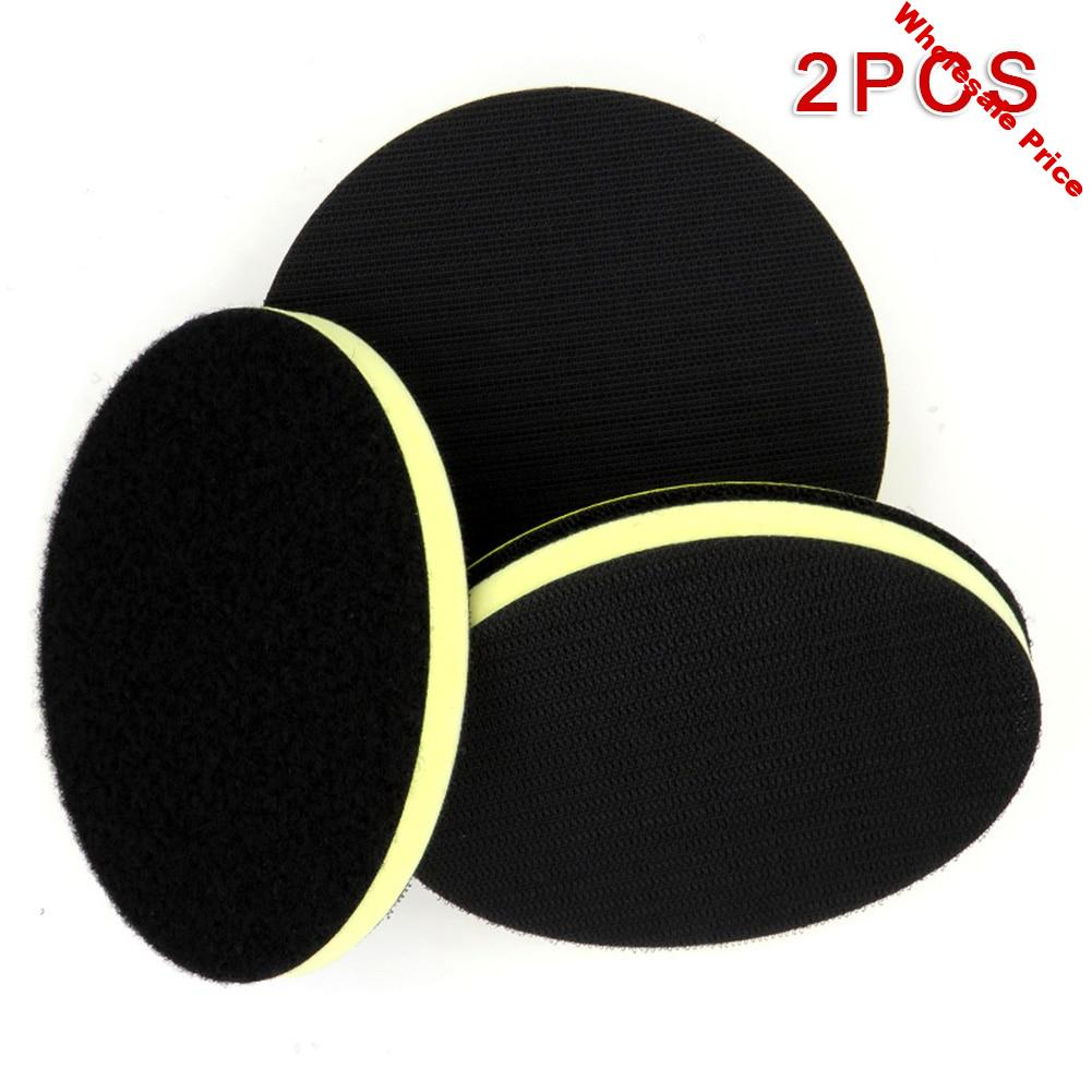2pcs 6inch Yellow Clay Bar Pad Buffing Sponge Polishing Disc Car Wash Maintenance For Car Painting Detailing Cleaning Glass
