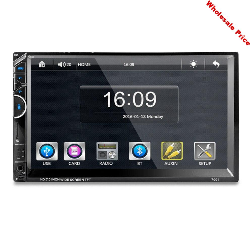 7 Inch Bluetooth 7001 HD 1080P Touch Screen With AM + RDS Music Movie Player Car Radio Video MP5 Player Autoradio FM AUX USB SD