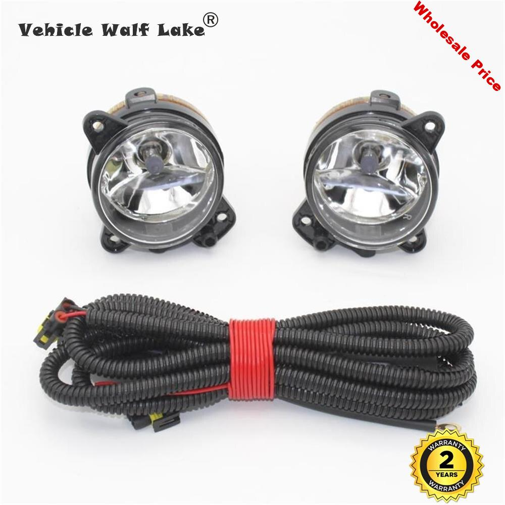 2pcs Left And Right Car Front Fog Lamp Fog Light With Wire  For VW Polo GTI 9N3 MK4 2005 2006 2007 2008 2009 2010