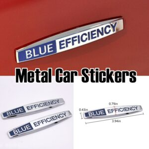 Metal Blue Efficiency Fender Emblem Decal Sticker Badge Car Styling For Mercedes Benz W204 W203 W211 W210 W212 W205 Cla Gla Glc