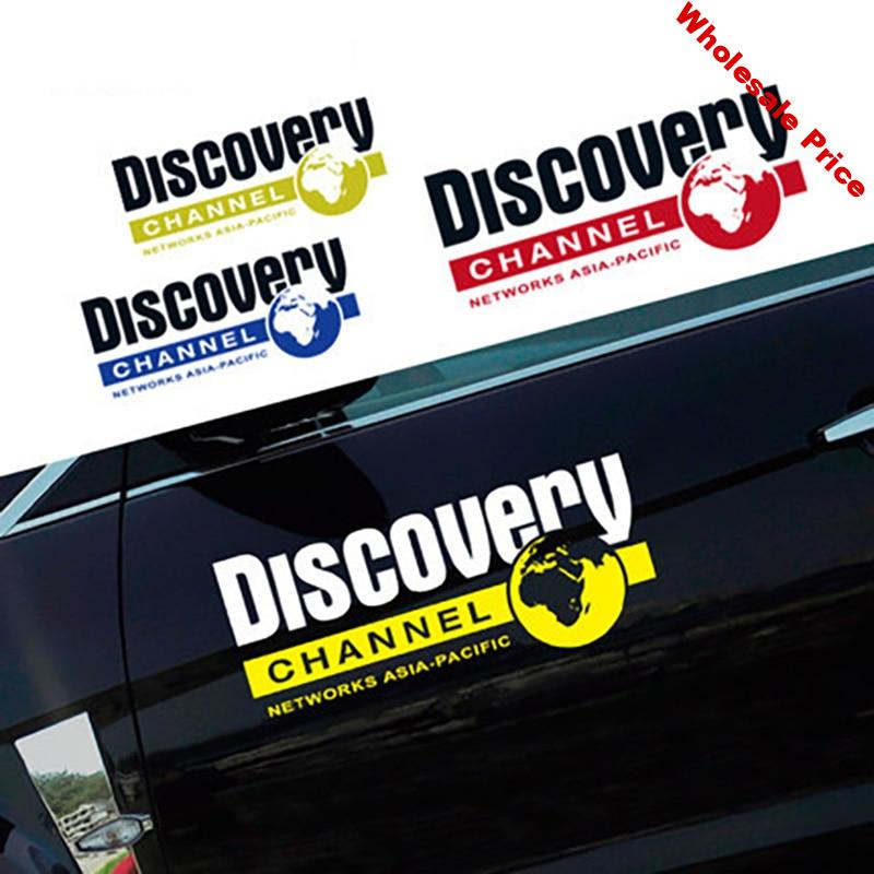 Noizzy Discovery Channel 60cm Car Sticker Auto Decal Vinyl Reflective Door Wild Tuning for Jeep Wrangler Renegade SUV Cherokee
