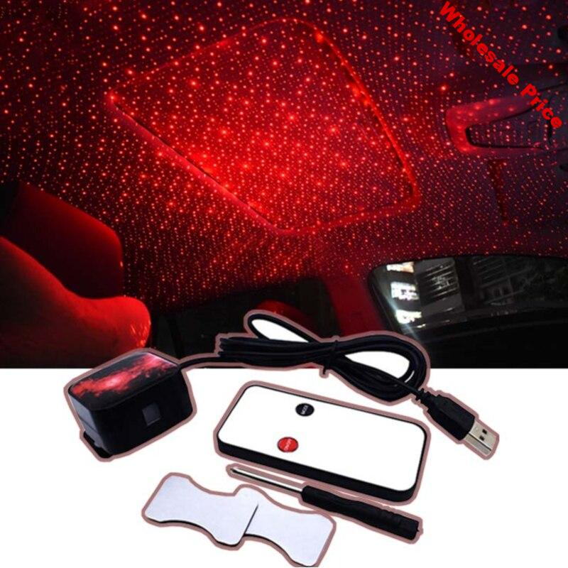USB LED Car Decorative Lamp Star Starry Night Roof Light Projector For Peugeot 3008 4008 5008 508 408 406 407 507 307 308 206