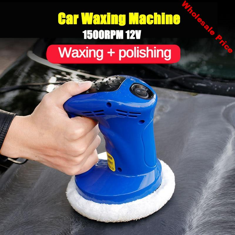 DC 12V 80W 1500rpm Mini Electric Waxing Dual Action Auto Polisher Car Paint Care Repair Polisher Tools for Car Scratch Remover